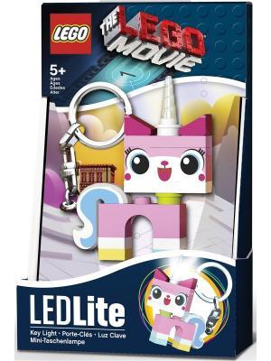 Брелок-фонарик для ключей LEGO MOVIE - Unikitty. Цвет: розовый, белый