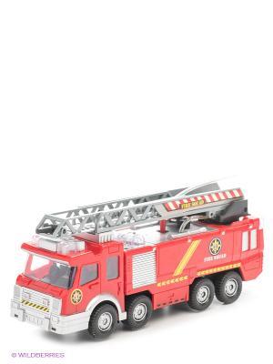 Пожарная машина с лестницей DREAM MAKERS. Цвет: красный