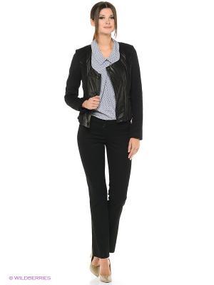 Куртка комбинированная MONDIAL. Цвет: черный
