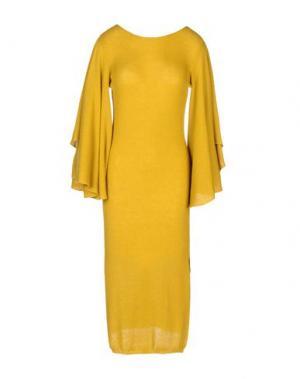 Платье длиной 3/4 VANDA CATUCCI. Цвет: охра