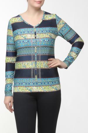 Блузка Elisa Fanti. Цвет: темно-синий