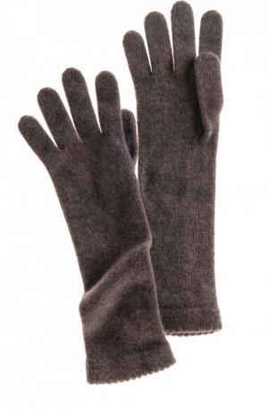 Удлиненные перчатки из кашемира Inverni. Цвет: коричневый