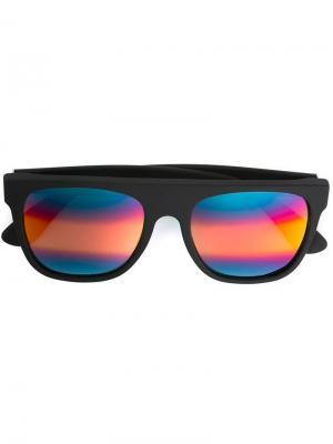 Солнцезащитные очки с разноцветными линзами Retrosuperfuture. Цвет: чёрный