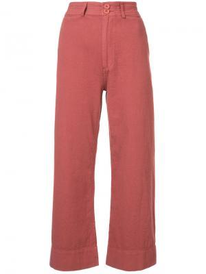 Широкие укороченные брюки Apiece Apart. Цвет: красный