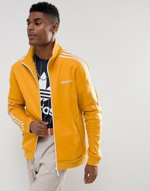 Adidas Originals Желтая спортивная куртка Beckenbauer BR4326. Цвет: желтый