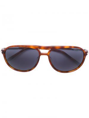 Солнцезащитные очки в округлой оправе Tom Ford Eyewear. Цвет: жёлтый и оранжевый