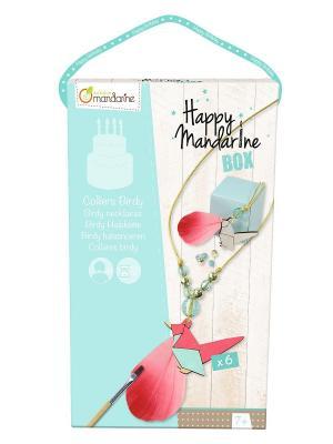 Игрушки для праздника Ожерелья с птичками  6 штук Avenue Mandarine. Цвет: голубой