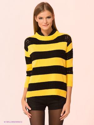 Джемпер Kling. Цвет: желтый, черный