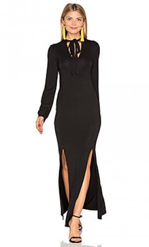 Макси платье stevie De Lacy. Цвет: черный