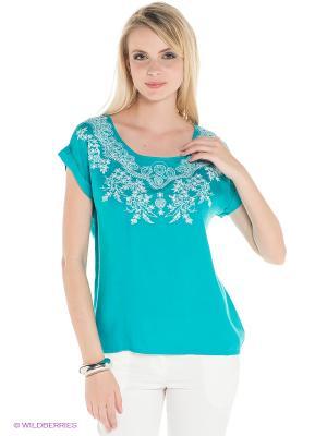 Блузка INCITY. Цвет: бирюзовый