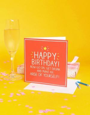 Happy Jackson Поздравительная открытка на день рождения. Цвет: мульти