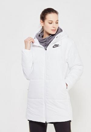Куртка утепленная Nike. Цвет: белый