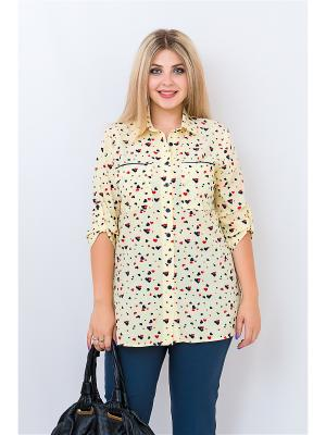 Блузка BALSAKO. Цвет: бежевый