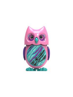 Сова с кольцом, розовая фиолетовыми крыльями Silverlit. Цвет: розовый, фиолетовый