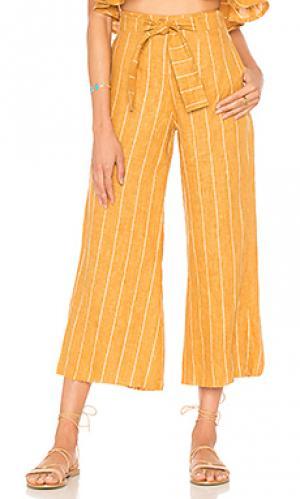 Укороченные брюки como FAITHFULL THE BRAND. Цвет: горчичный