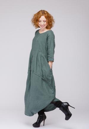 Платье Kayros. Цвет: хаки