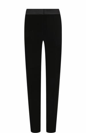 Однотонные бархатные брюки прямого кроя BOSS. Цвет: черный
