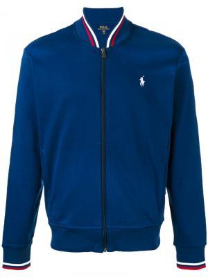 Спортивная куртка на молнии Polo Ralph Lauren. Цвет: синий