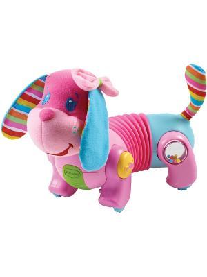 Игрушка-собачка Фиона Tiny Love. Цвет: лиловый, бледно-розовый