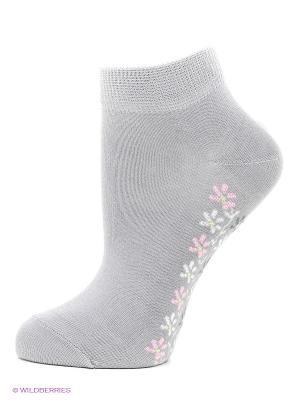 Носки, 3 пары БРЕСТСКИЕ. Цвет: светло-серый, бледно-розовый