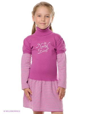 Платье PlayToday. Цвет: сиреневый, молочный