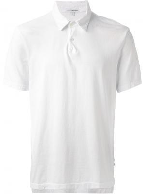 Классическая футболка-поло James Perse. Цвет: белый