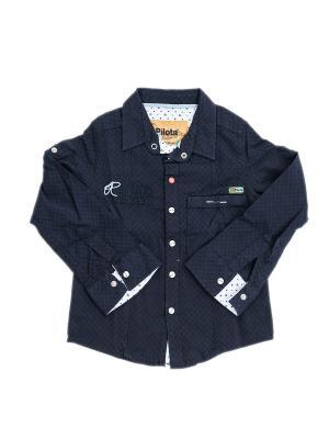 Детская рубашка Pilota. Цвет: черный
