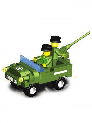 Конструктор SuperBlock Военные маневры Автомобиль M Склад Уникальных Товаров. Цвет: зеленый