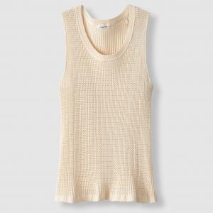 Пуловер без рукавов из ажурного трикотажа Printemps SCHOOL RAG. Цвет: экрю