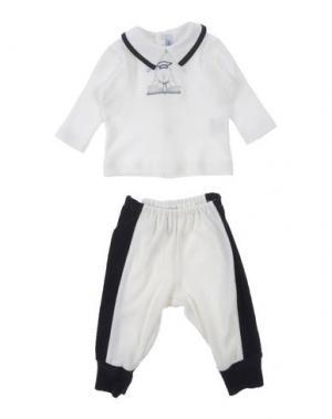 Спортивный костюм ALETTA. Цвет: белый