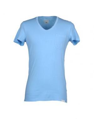 Футболка MAESNA. Цвет: небесно-голубой