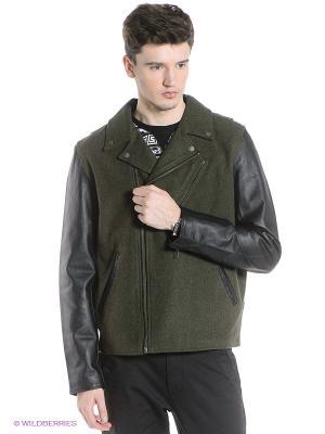 Куртка Wesc. Цвет: зеленый, черный