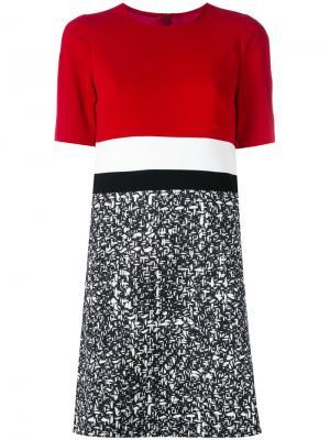 Платье-футболка в полоску Paule Ka. Цвет: красный