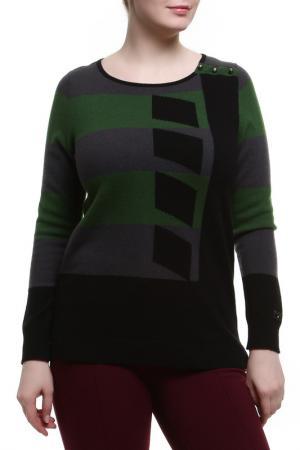 Джемпер Paola Joy. Цвет: черный, серый, зеленый