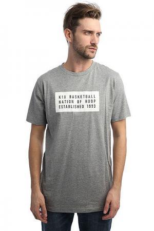 Футболка  Label Grey K1X. Цвет: серый