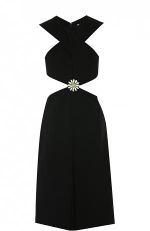 Платье с брошью Christopher Kane. Цвет: черный