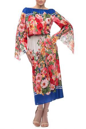 Платье Петербургский Швейный Дом. Цвет: красно-синий