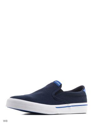 Слипоны GVP SO  CONAVY/CONAVY/BLUE Adidas. Цвет: темно-синий, белый