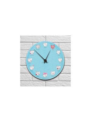 Часы настенные Про любовь Kawaii Factory. Цвет: голубой