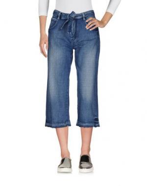 Джинсовые брюки-капри LE TEMPS DES CERISES. Цвет: синий