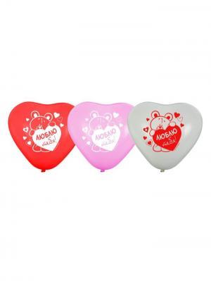 Набор воздушных шаров А М Дизайн. Цвет: фиолетовый, белый, красный