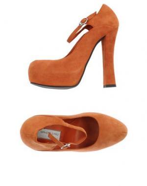 Туфли GIANCARLO PAOLI. Цвет: ржаво-коричневый