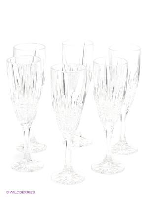 Рюмка для шампанского VIBES, 180 мл, 6 шт Crystal Bohemia. Цвет: прозрачный