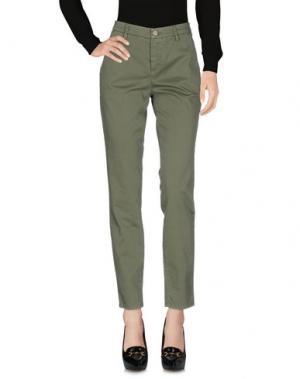 Повседневные брюки UP ★ JEANS. Цвет: зеленый-милитари