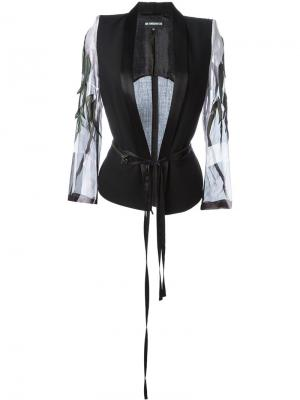 Жакет Lightlaine с перьями Ann Demeulemeester. Цвет: чёрный