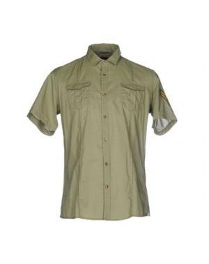 Pубашка DANIELE ALESSANDRINI. Цвет: зеленый-милитари