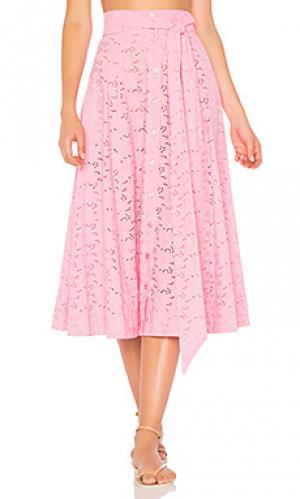 Пляжная юбка Lisa Marie Fernandez. Цвет: розовый