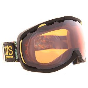 Маска для сноуборда  Bomber Nw Matte Black Hawaiian Bronze I/S Eyewear. Цвет: черный,желтый