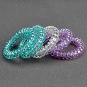 Комплект Резинок-Пружинок для волос 5 шт/уп, арт. РПВ-313 Бусики-Колечки. Цвет: разноцветный