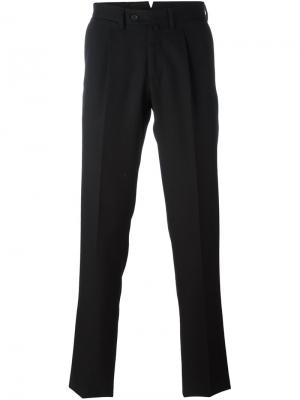 Плиссированные брюки Borrelli. Цвет: чёрный